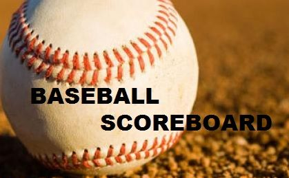 Baseball Scoreboard Sat April 20