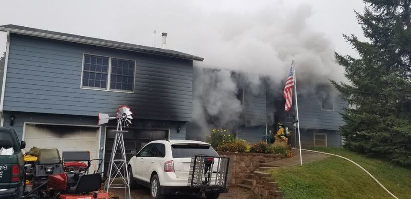 Fire damages a home in Black Hawk