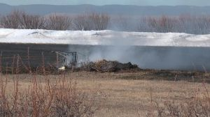 Brush Fire burns near Box Elder