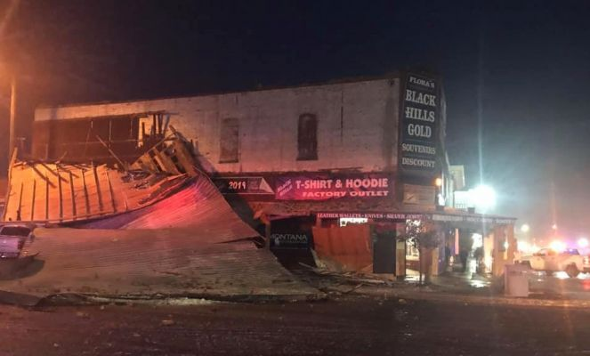 Partial Building Collapse in Custer Sunday Night.