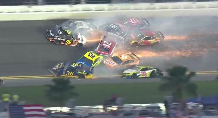 A 21-car crash was one of several in the closing laps of the Daytona 500 Sunday.