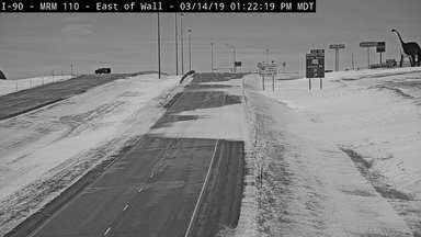 A late winter storm is bringing heavy snow and rain to South Dakota. Blowing snow continues to drift on I-90 at Wall Thursday afternoon.