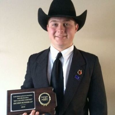 Auctioneer Austin Thayer, Martin, SD is among those competing at the South Dakota Auctioneer's Association Bid Calling Contest at the Black Hills Stock Show.