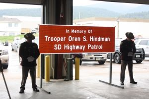 Trooper Hindman Sign Dedication