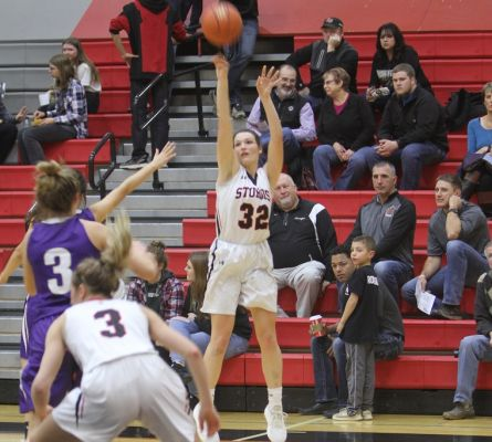 Olivia Jolley puts up a shot against Belle Fourche Tuesday Night.