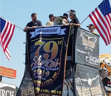 The 79 Sturgis Motorcycle Rally logo is unveiled Wednesday.