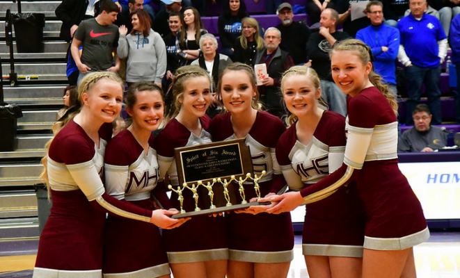 The Madison Cheer Team was awarded the 2018 Spirit of Six award.