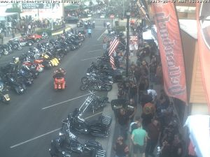 Motorcycles on Main Street begin dwindle Saturday as the annual Motorcycle Rally neared the end.
