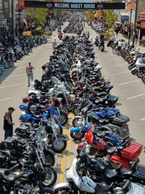 Main Street Sturgis. The SD DOT says traffic counts continue to increase.