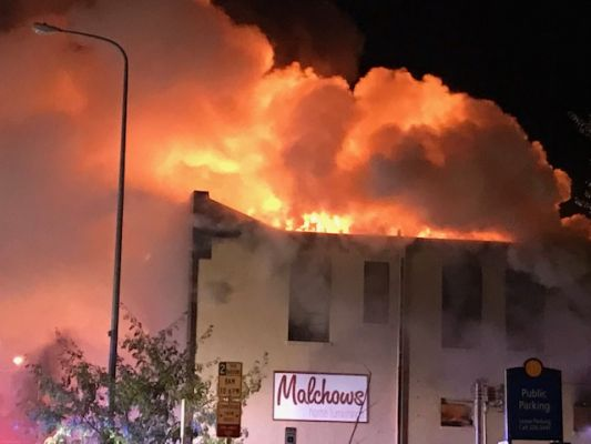 Fire destroys historic Malchow's building in Aberdeen.