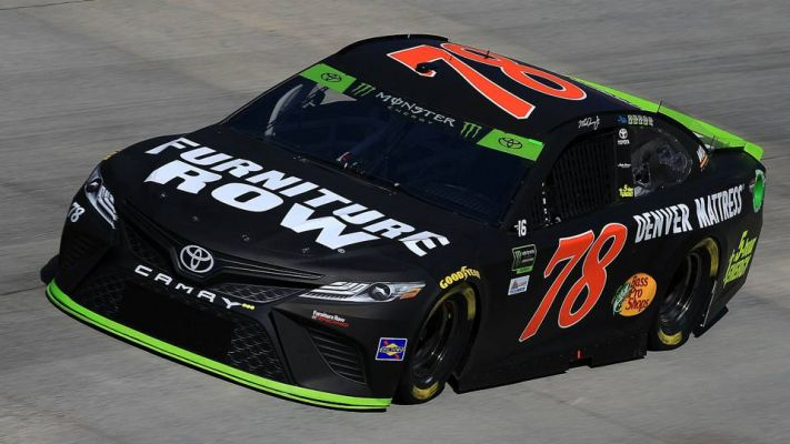 Martin Truex Jr in his Furniture Row racing NASCAR