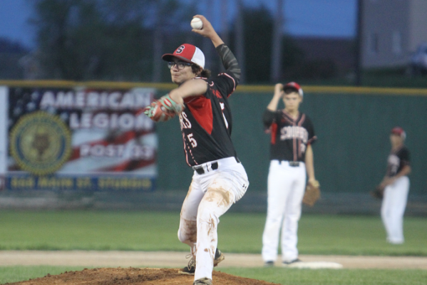 Carl Nash pitches against Douglas Wednesday night.