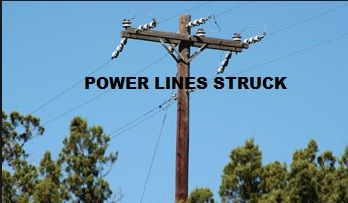 Power lines struck in Sturgis