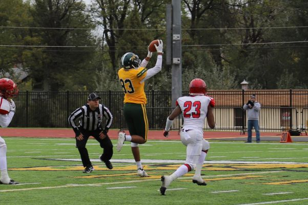 Jordan Pace of BHSU reaches out for a catch.
