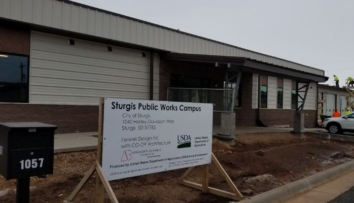 Work moving well on new Sturgis Public Works Building.