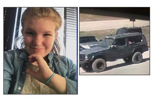 Left, Shayna Ritthaler, Upton, WY and the vehicle traced by police to Deadwood