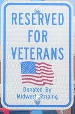 Parking for Veterans signs.