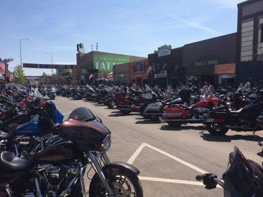 The Sturgis Rally is seeing more people this year -- according to the DOT.