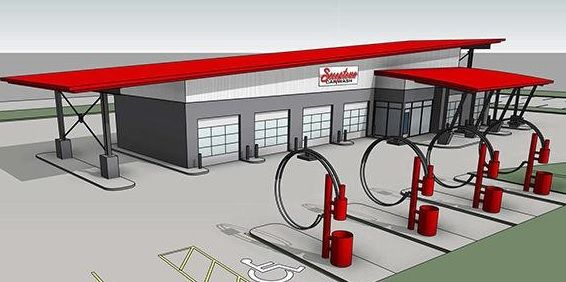 Proposed look of the new Scooptown Carwash