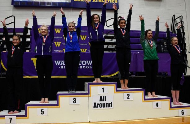 All Around winners from Saturday's State Gymnastics Final.