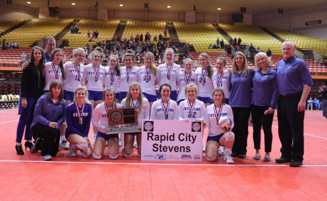 Rapid City Stevens claims second place.