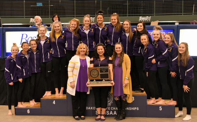 Watertown won the Class AA Gymnastics team title Friday.