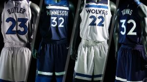 New Timberwolves Jerseys