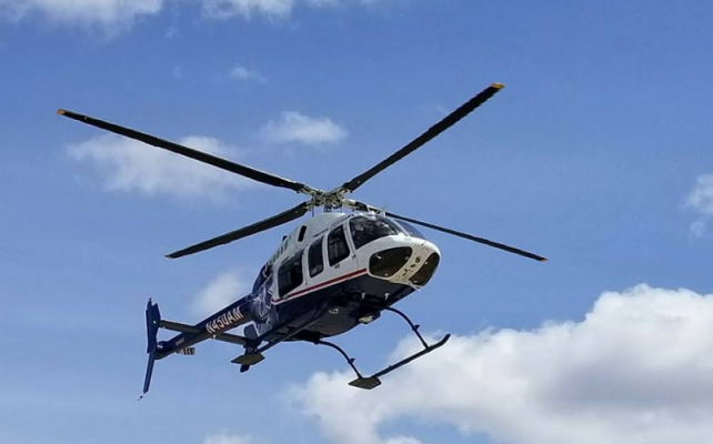Black Hills Life Flight helicopter moving to Spearfish