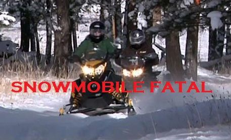 Snowmobile Fatal Crash