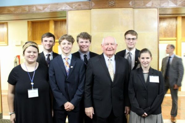 Three South Dakota youth who serve on the National Farmers Union (NFU) National Youth Advisory Council were among more than 250 family farmers and ranchers addressed today by U.S. Secretary of Agriculture, Sonny Perdue during the NFU D.C. Fly-In. They are
